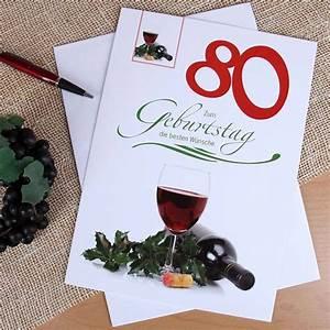 Besinnliches Zum 80 Geburtstag : gl ckwunschkarte zum 80 geburtstag in xxl ~ Frokenaadalensverden.com Haus und Dekorationen