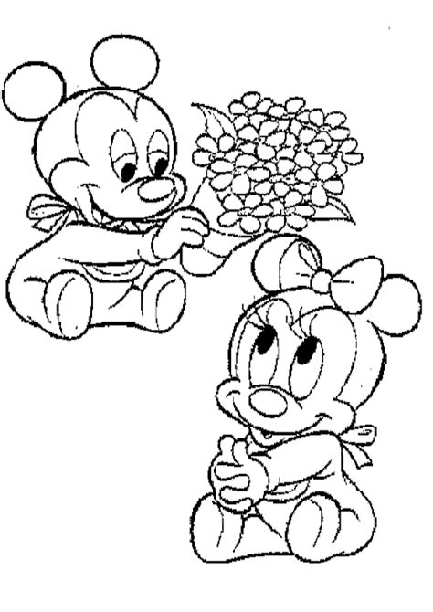 baby minnie coloring pages coloring home