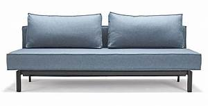 canape lit design sly bleu innovation prix sympa With prix canapé lit