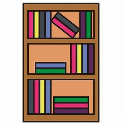 Bookshelf Clipart Clip Bookcase Animated Bookshelves Library