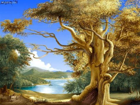 Nature Painting Wallpaper by Free Wallpapers Beautiful Nature Paintings