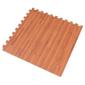 foam tile flooring home depot forest floor mahogany printed wood grain 24 in x 24 in x
