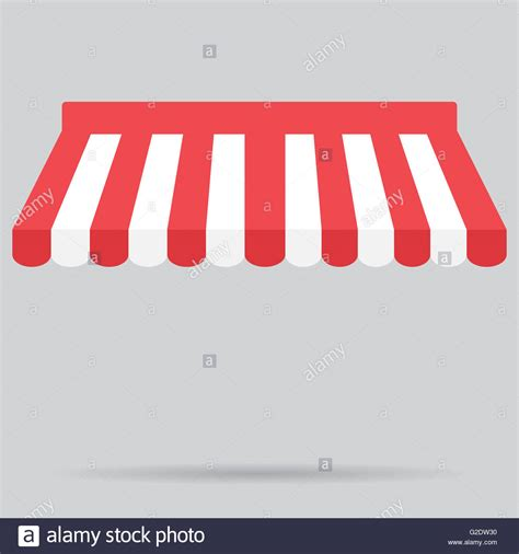 canopy awning striped store element design canopy  tent blind stock photo  alamy