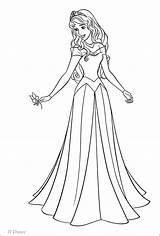 Princess Coloring Disney Aurora Pages Walt Characters Fanpop Figuren sketch template