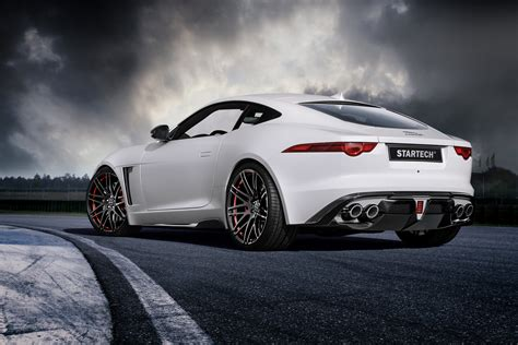 Wallpaper Jaguar F Type, Coupe, White, Startech., Cars