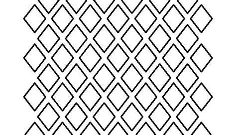 diamond pattern   printable outline