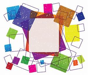 Vector Colorful Square Frame Free Design | 123Freevectors