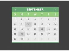jQuery Calendar Plugin Using HTML Templates CLNDRjs