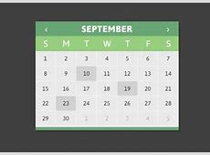 jQuery Calendar Plugin Using HTML Templates CLNDRjs