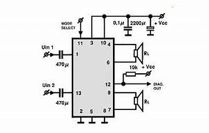tda8560 class b power amplifier circuit design project With audio splitter amplifier circuit diagram using tl084 super circuit