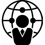 Business Global Icon Affiliation Trade Marketing Branch