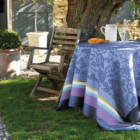 nappe enduite provence bleu lavande nappes la table le jacquard fran 231 ais