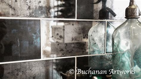 reflection of our silvered mercury glass tile finish