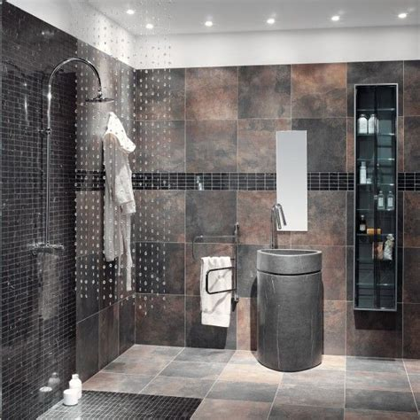 bathroom slate tile ideas 17 best images about contemporary and modern bathrooms on pinterest glass tile shower