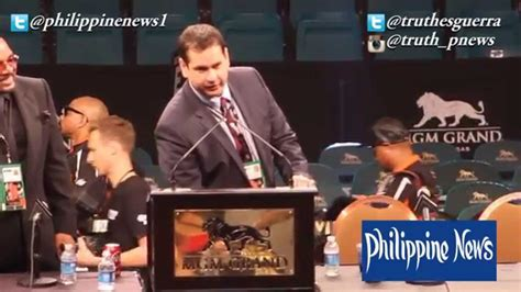 Inaccurate Information From Bob Arum #maypac Youtube