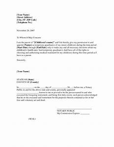 child care authorization letter sample docoments ojazlink With temporary power of attorney template