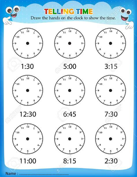 telling time worksheets for school printable kindergarten