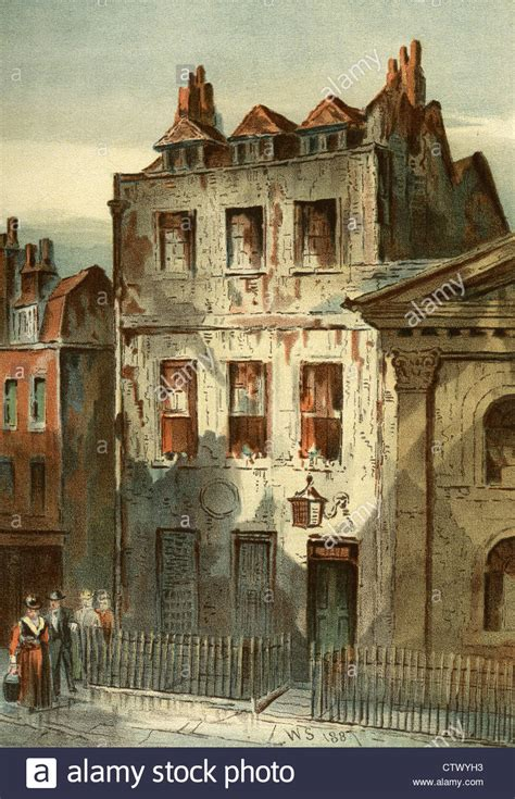newtons house vintage picture of sir isaac newton s house