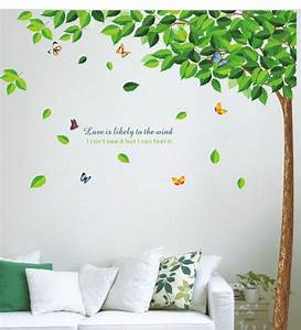 wall stickers bestselling green leaves tree by walltola With best brand of paint for kitchen cabinets with dr pepper stickers