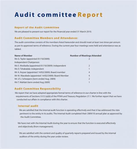 brilliant audit report format examples thogati