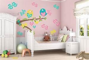 stickers chambre bebe oiseaux kit 2158fr With chambre bébé design avec livraison de fleurs à l étranger
