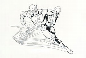 HD Wallpapers Coloring Page Flash Superhero