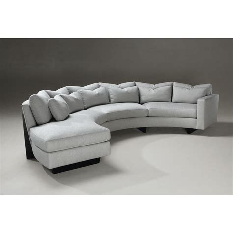 Curved Settee Furniture by Curve Sectional Sofa By Thayer Coggin Modern And