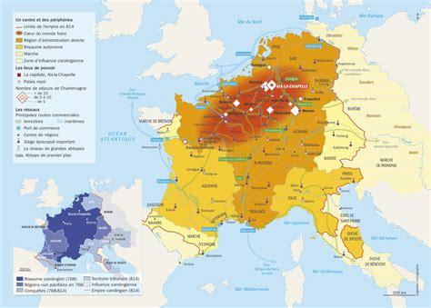Carte  Organisation De L'empire De Charlemagne Lhistoirefr