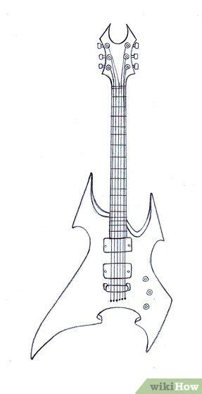 formas de dibujar guitarras wikihow