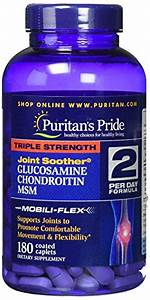 Puritan U0026 39 S Pride Triple Strength Glucosamine  Chondroitin Msm Joint Soother