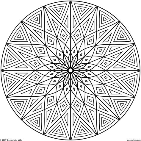 designs to color coloring design page geometric patterns coloring page for