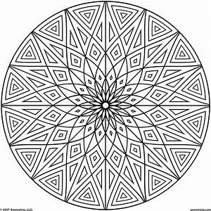 Coloring Design Page Geometric Patterns Coloring Page For ...