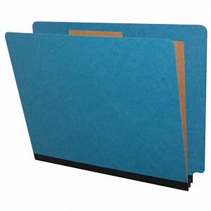 Blue letter size classification folders end tab 1 divider for Classification folders 1 divider letter size