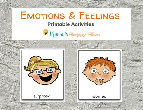 learning about emotions and feelings and includes a printable