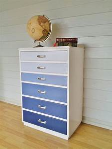 upcycled painted ombre chest of drawers diy furniture With what kind of paint to use on kitchen cabinets for pop art wall decals