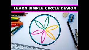 learn simple design in circle - YouTube