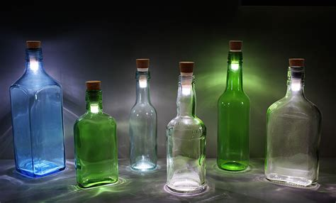 how to turn bottles into ls using rechargeable led corks