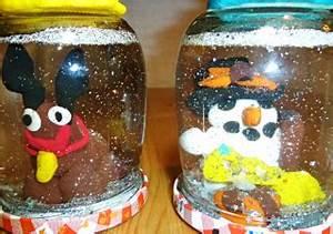 Basteln Weihnachten: Schneemann Schneekugel basteln ytti