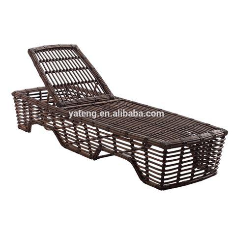 low price rattan wicker swimming pool sun lounger for