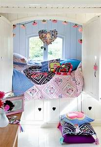stunning idee deco chambre ado fille pas cher photos With idee couleur de chambre