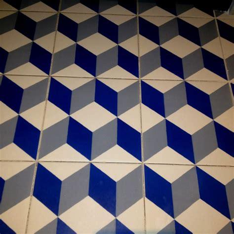 blue white  gray cube tiles moroccan tiles mc esher