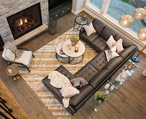 Living Room With Sectional And Corner Fireplace by 25 Best Ideas About Sectional Sofa Layout On