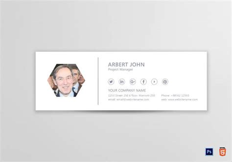 project manager email signature designs examples