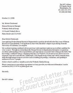 sample letter human resources sample business letter With human resources cover letter