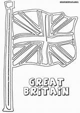 Flag Coloring England British sketch template