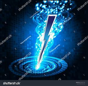Illustration Sparkling Lightning Bolt Electric Effect ...