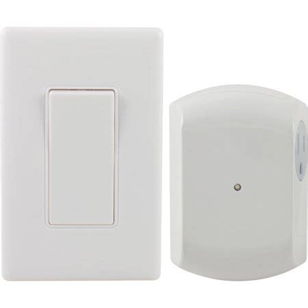 ge 18279 wall switch light remote with 1 outlet receiver walmart
