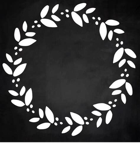monogram wreath blank laurel  alphabet letters initial letters wood sign    stencil