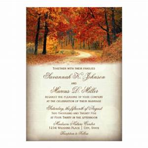 Autumn wedding postcards zazzle uk for Blank fall wedding invitations