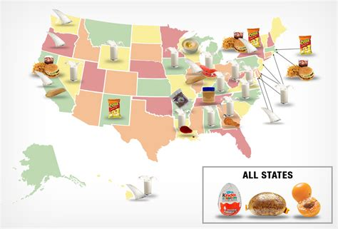 usa cuisine map banned foods by state business insider